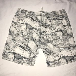H&M Shorts - Men's Canvas Marble Drawstring Shorts